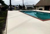 slip resistant commercial pool deck