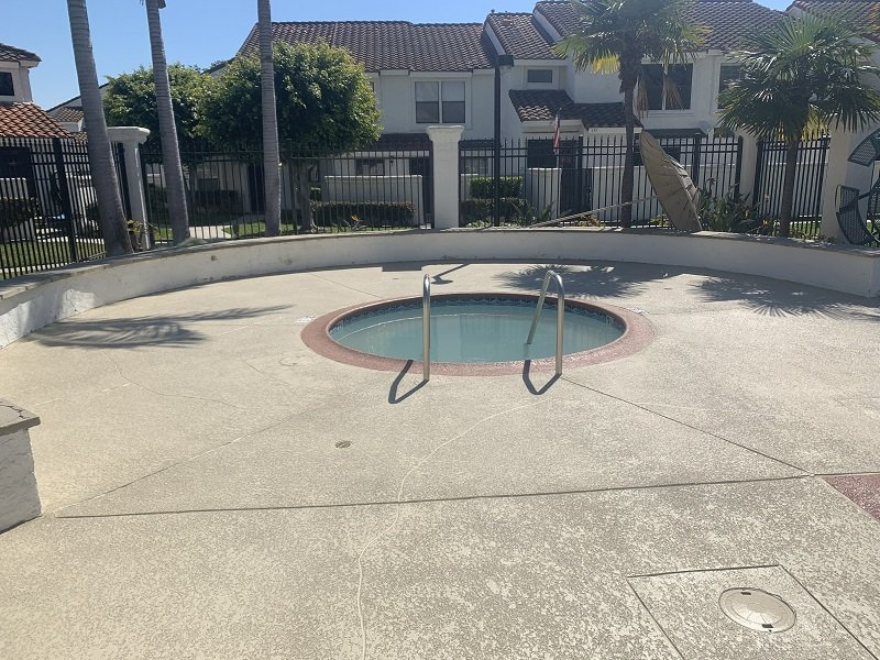 commercial stained pool deck