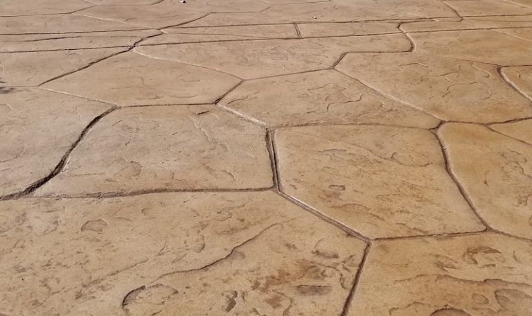 commercial pool deck stamping