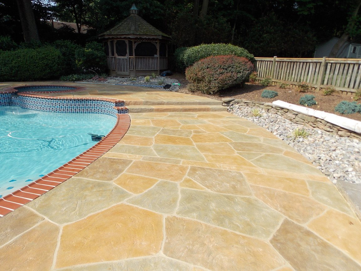 pool deck tinted sealer