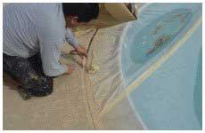 Man repairing the pool